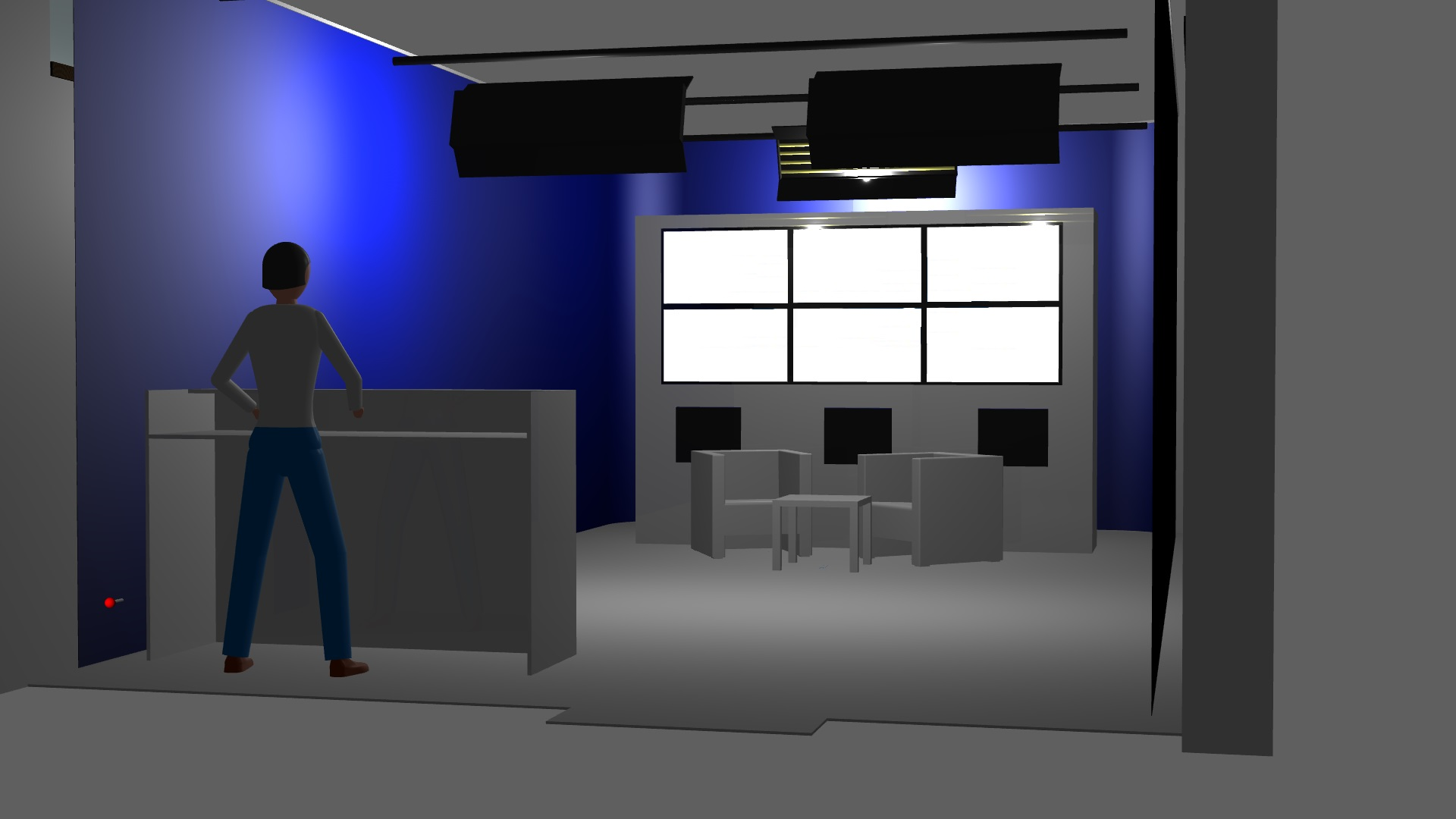 3D renders for training and webinar room